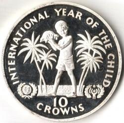 Moneta > 10corone, 1982 - Turks e Caicos (Isole)  (Anno internazionale del bambino) - reverse