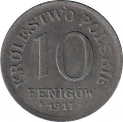Moeda > 10fenigow, 1917-1918 - Polônia   - reverse