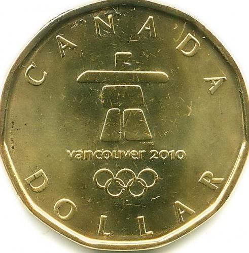1 Dollar 2010 Vancouver10 Olympic Kanada Münzen Wert Ucoinnet