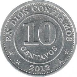Νόμισμα > 10Σεντάβος, 2007-2015 - Νικαράγουα  - reverse