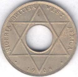 Moneda > 1/10penic, 1908-1910 - Àfrica Occidental Britànica  (Coure-níquel, pes 1.9gr) - reverse