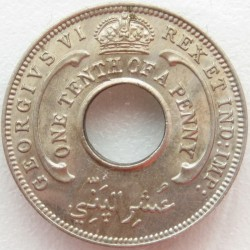 Moneda > 1/10penic, 1938-1947 - Àfrica Occidental Britànica  - reverse