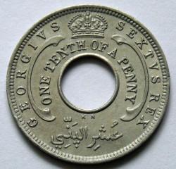 Moneda > 1/10penic, 1949-1950 - Àfrica Occidental Britànica  - obverse