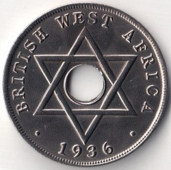 Moneda > 1penny, 1936 - Àfrica Occidental Britànica  (Eduard VIII) - reverse