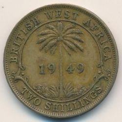 Moneda > 2shillings, 1949-1952 - Àfrica Occidental Britànica  - obverse
