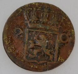 Монета > 2цента, 1833-1841 - Голландская Ост-Индия  - obverse