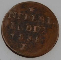 Монета > 2цента, 1833-1841 - Голландская Ост-Индия  - reverse