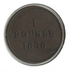 Moneda > 1 double, 1868 - Guernesey  - obverse