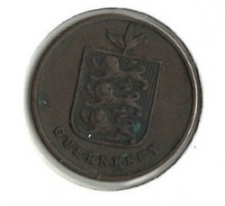 Moneda > 1 double, 1868 - Guernesey  - reverse