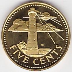 Moneta > 5centesimi, 1976 - Barbados  (10° anniversario dell'indipendenza) - reverse