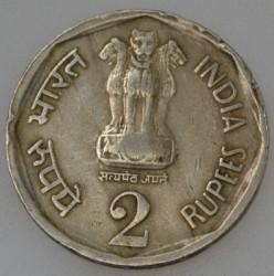 Mynt > 2rupier, 1990 - India  - obverse