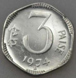 Монета > 3пайса, 1972-1981 - Индия  - obverse