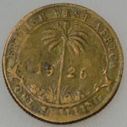 Moneda > 1shilling, 1920-1936 - Àfrica Occidental Britànica  - reverse