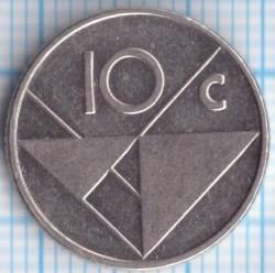 Moneta > 10centų, 1988 - Aruba  - reverse