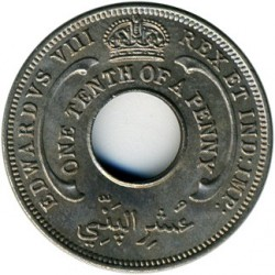 Moneda > 1/10 penic, 1936 - Àfrica Occidental Britànica  (Eduard VIII) - obverse