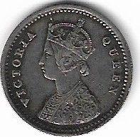 Кованица > 2ана, 1862-1876 - Индија - Британија  - obverse