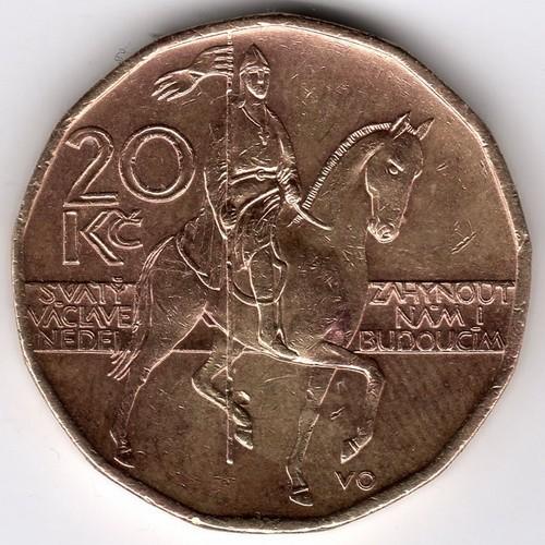 20 Kronen 1999 Tschechische Republik Münzen Wert Ucoinnet