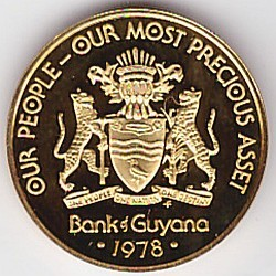Moneda > 5 centavos, 1976-1980 - Guyana  (Coat of Arms on obverse) - reverse
