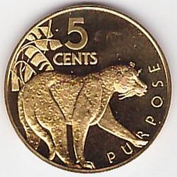Moneda > 5centavos, 1976-1980 - Guyana  (Coat of Arms on obverse) - reverse
