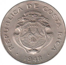 Кованица > 1колон, 1937-1948 - Костарика  - obverse