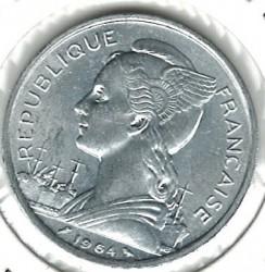 Монета > 5франков, 1964 - Коморские острова  - reverse