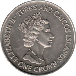 Moneta > 1corona, 1991 - Turks e Caicos (Isole)  (10° anniversario - Matrimonio del principe Carlo e Lady Diana/Principe Carlo/) - obverse