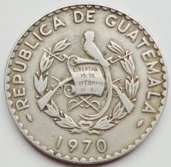 錢幣 > 25分, 1967-1970 - 瓜地馬拉  - obverse