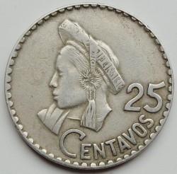 錢幣 > 25分, 1967-1970 - 瓜地馬拉  - reverse
