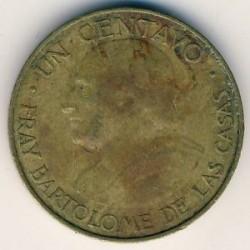 錢幣 > 1分, 1954-1958 - 瓜地馬拉  - reverse