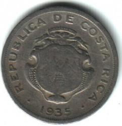 Монета > 50сентимів, 1935 - Коста-Ріка  - reverse