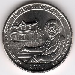 Coin > ¼ dollar, 2017 - USA  (Frederick Douglass National Historic Site) - reverse