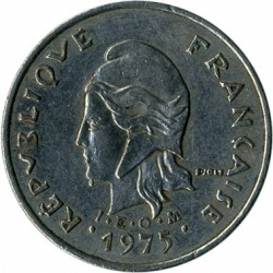 Монета > 10франков, 1972-2005 - Французская Полинезия  - obverse