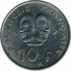 Монета > 10франков, 1972-2005 - Французская Полинезия  - reverse