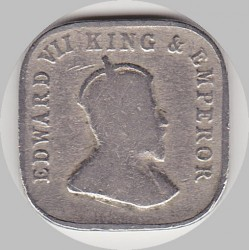 Монета > 5центов, 1909-1910 - Цейлон  - obverse