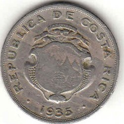 Münze > 1 Colon, 1935 - Costa Rica  - reverse
