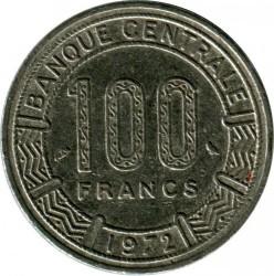 Moneta > 100franków, 1971-1972 - Kamerun  - reverse
