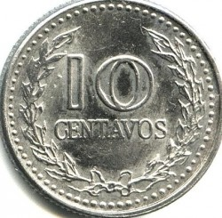 Moneta > 10centavos, 1972-1980 - Colombia  - reverse