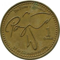 Moneda > 1quetzal, 1999-2012 - Guatemala  - obverse