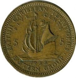 Moneda > 5centavos, 1955 - Estados del Caribe Oriental  - reverse