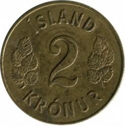 Монета > 2крони, 1958-1966 - Ісландія  - reverse