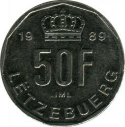 Монета > 50франков, 1989-1995 - Люксембург  - reverse