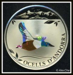 Moneda > 1diner, 2012 - Andorra  (Pájaros de Andorra - Pato) - reverse