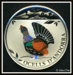 Moneda > 1diner, 2012 - Andorra  (Pájaros de Andorra - Urogallo) - reverse