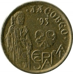 Coin > 5 pesetas, 1993 - Spain  (Year of St. James) - reverse