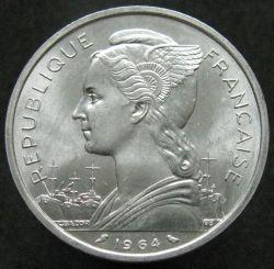 Münze > 5Franken, 1964 - Komoren  - obverse