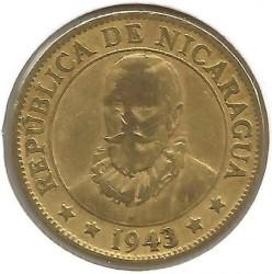 Moeda > 10centavos, 1943 - Nicarágua  - obverse