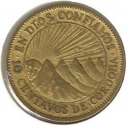 Moneta > 10sentavų, 1943 - Nikaragva  - reverse