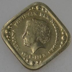 Moneda > 5centavos, 1980 - Países Bajos  (32th Anniversary - Reign of Queen Julianna) - obverse