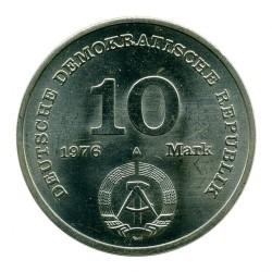 Moneda > 10marcos, 1976 - Alemania - RDA  (20º Aniversario - Ejército Nacional Popular) - obverse
