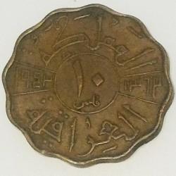 Монета > 10філсів, 1943 - Ірак  - reverse